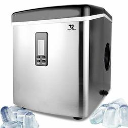 Stainless Steel Ice Maker Portable Countertop Freestanding I
