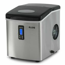 DELLA Stainless Steel Ice Maker Portable Countertop LCD Disp