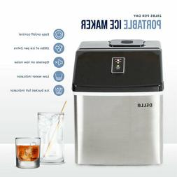 Stainless Steel Ice Maker Portable LCD Display Large Capacit