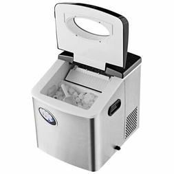 Costway Stainless Steel Ice Maker w- 48 lbs Productivity