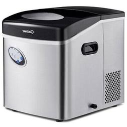 Costway Stainless Steel Ice Maker w/ 48 lbs Productivity