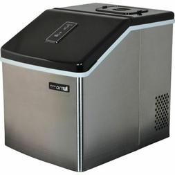 Stainless Steel Portable Clear Ice Maker, Countertop Home Sm