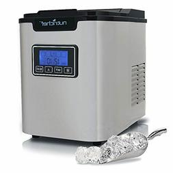 Upgraded Digital Ice Maker Machine - Portable Stainless Stee