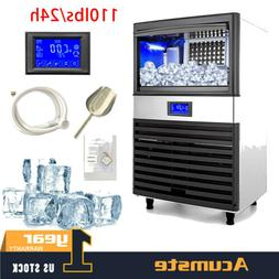 us 110lbs built in commercial ice maker